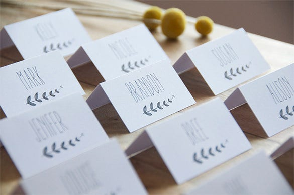 Wedding place card template 16 free printable word pdf for Templates for place cards for weddings