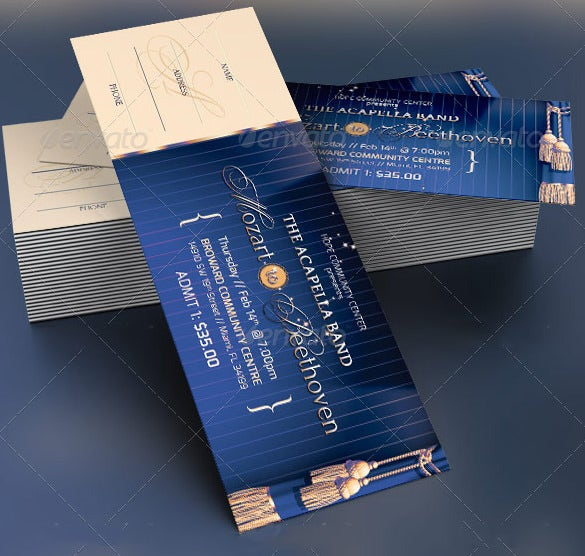 Event Prom Ticket Template  Prom Tickets Design