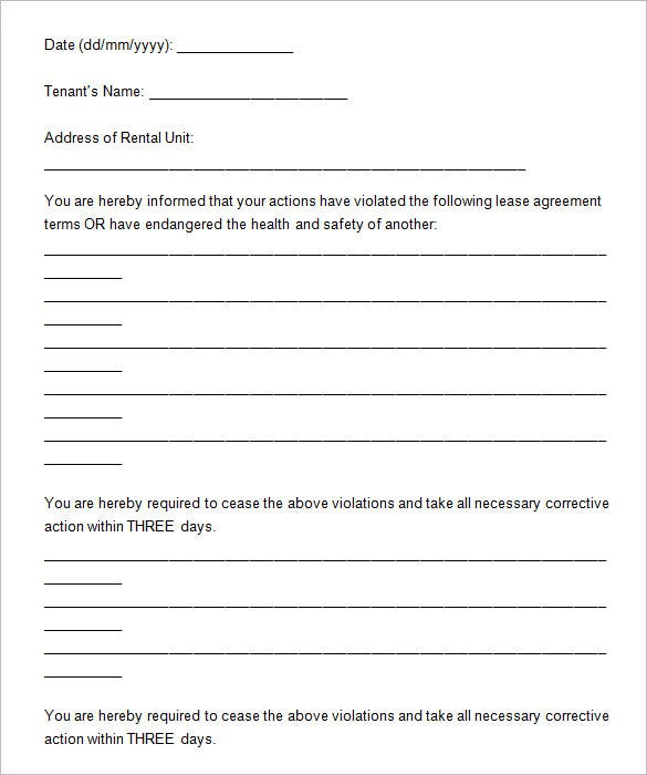 notice to tenants template - Military.bralicious.co