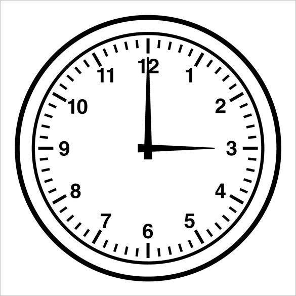 example analog clock template free download