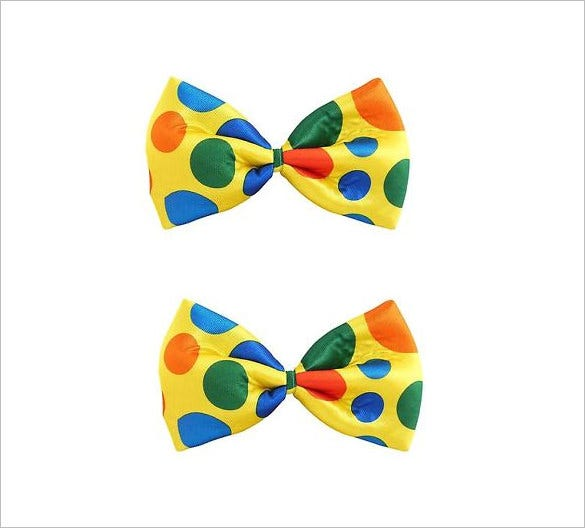 example clown bow tie template premium download