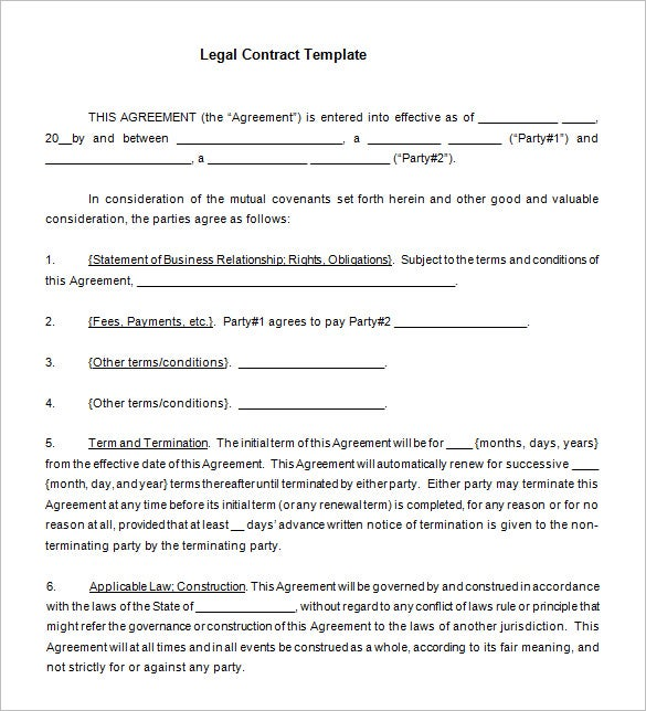 15 legal contract templates free word pdf documents for By law template free