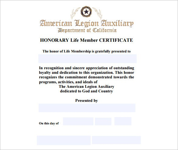 Charming Example Life Membership CertificatePDF Download Intended Life Membership Certificate Template
