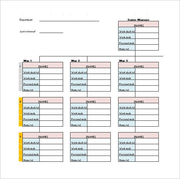 Printable Phone Tree Template 15 Free Word Excel PDF Format – Telephone Number Template
