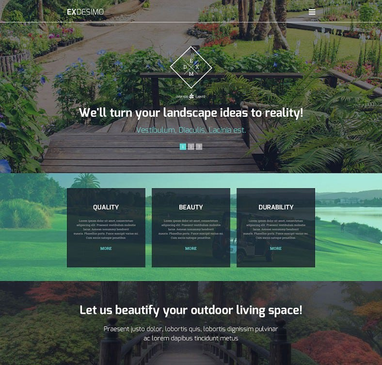 exdesimo wordpress theme 788x753
