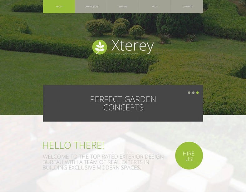exterior design bureau wordpress theme 788x615
