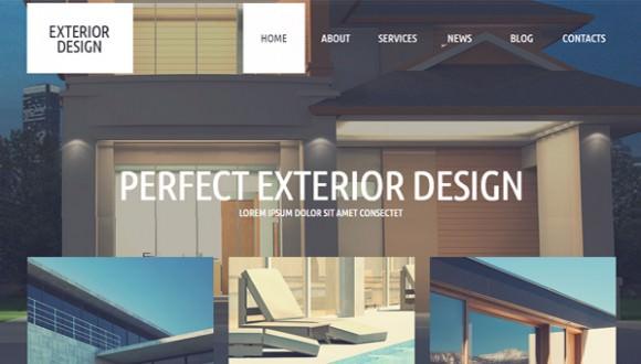 Exterior design wordpress templates themes free premium for Exterior design templates
