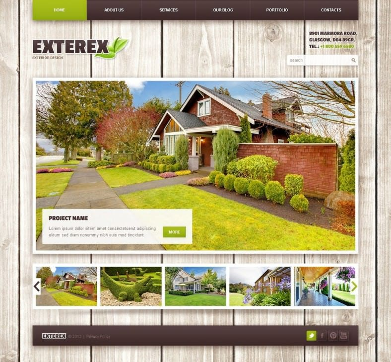 exterior design wordpress theme 788x729