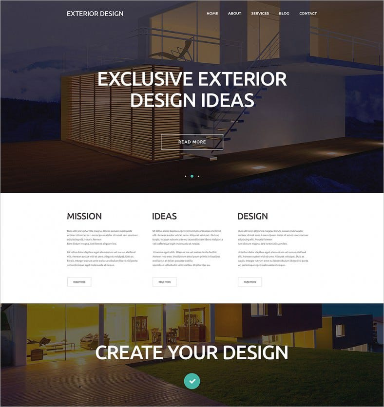 external design trends wordpress theme 788x836