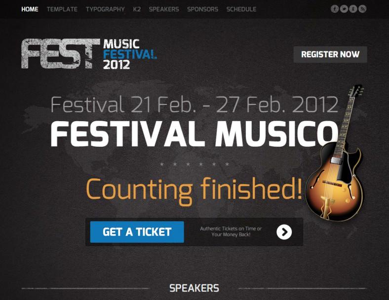 fest music festival joomla template 788x609