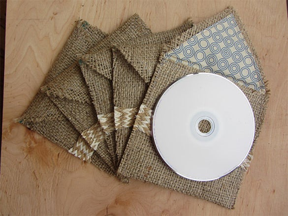 fabric dvd cover gift packaging template for 6