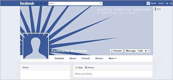 facebook user timeline template