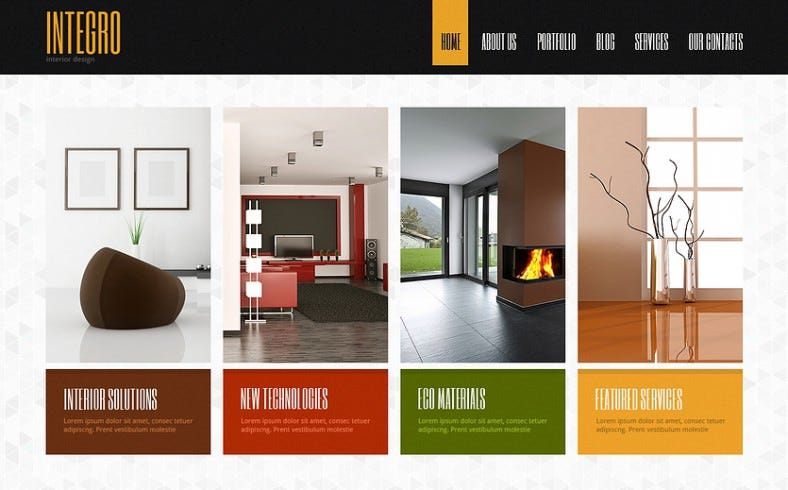 11 amazing interior design joomla templates free for Interior design layout templates
