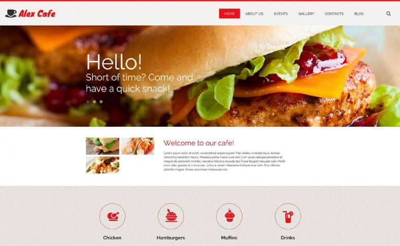 Fantastic Sliders Cafe WordPress Template