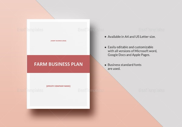 Farm business plan template 9 free sample example format farm business plan template flashek Images