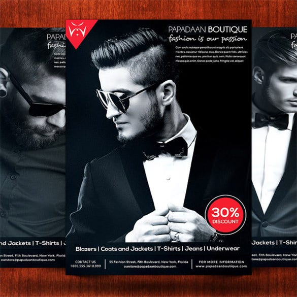 Mind Blowing Fashion Flyer Templates  Designs  Free