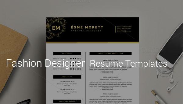 fashiondesignerresumetemplate