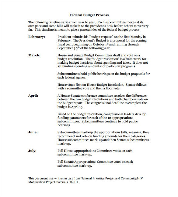 Budget Timeline Templates  Free Word Excel Pdf Format Download