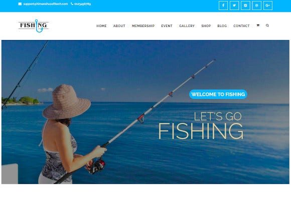 fishing yacht water sports wordpress theme
