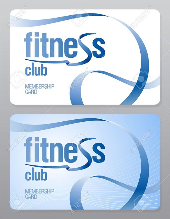Fitness Club Membership Card  Membership Id Card Template