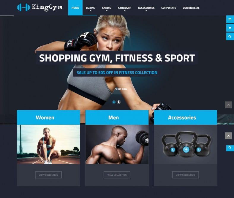 Fitness, Gym and Sport Magento eCommerce Theme