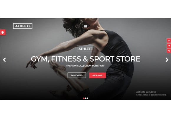 fitness gym and sport ecommerce theme
