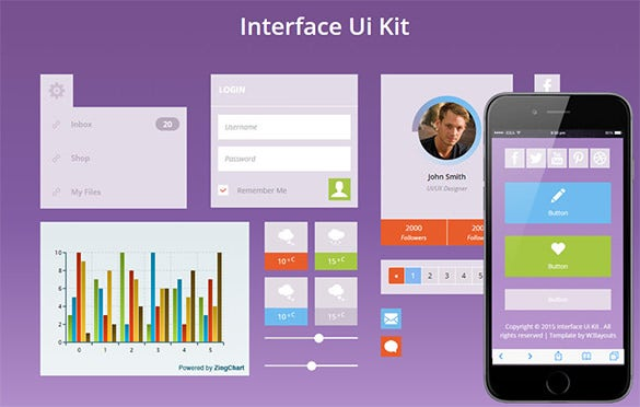 flat bootstrap website ui kit for free