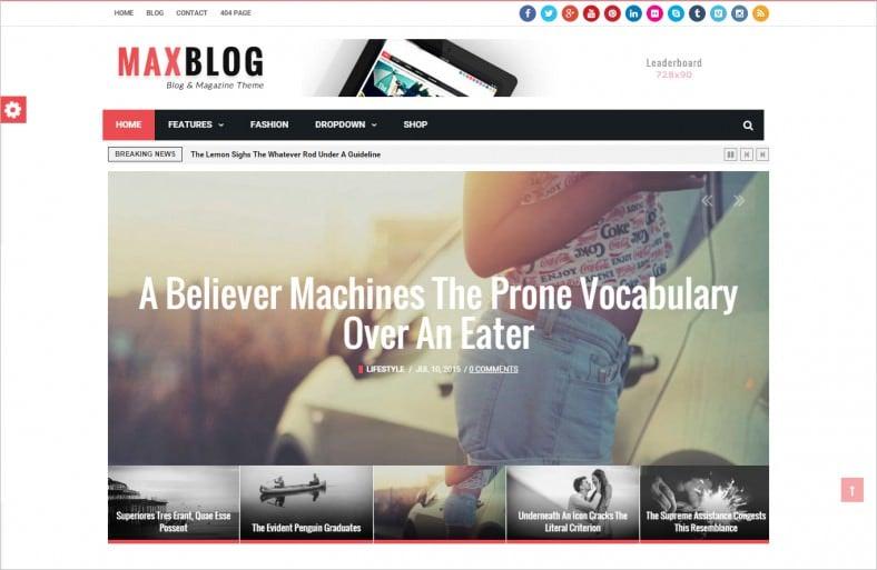 Flat News Magazine Drupal Blog Template