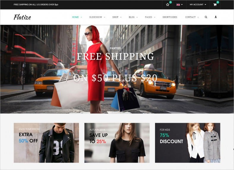 flatize fashion ecommerce joomla template 788x573