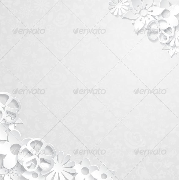 floral background with paper flower template 4