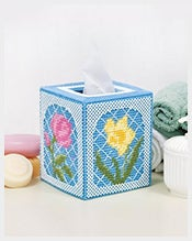Floral-Trellis-Plastic-Canvas-Tissue-Box-Cover-Template