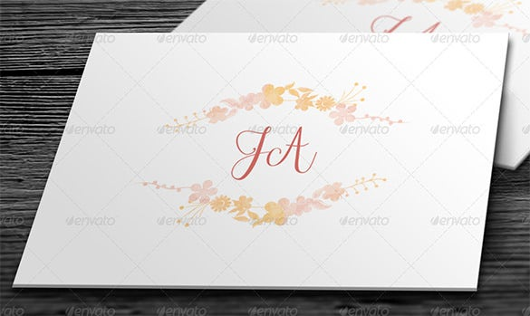 Wedding Card Envelope Templates   Free Printable Word Pdf Psd