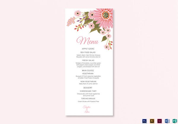 floral-wedding-menu-card-photoshop-template