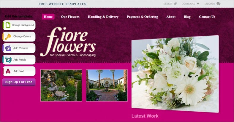 flower shop website template 2 788x411