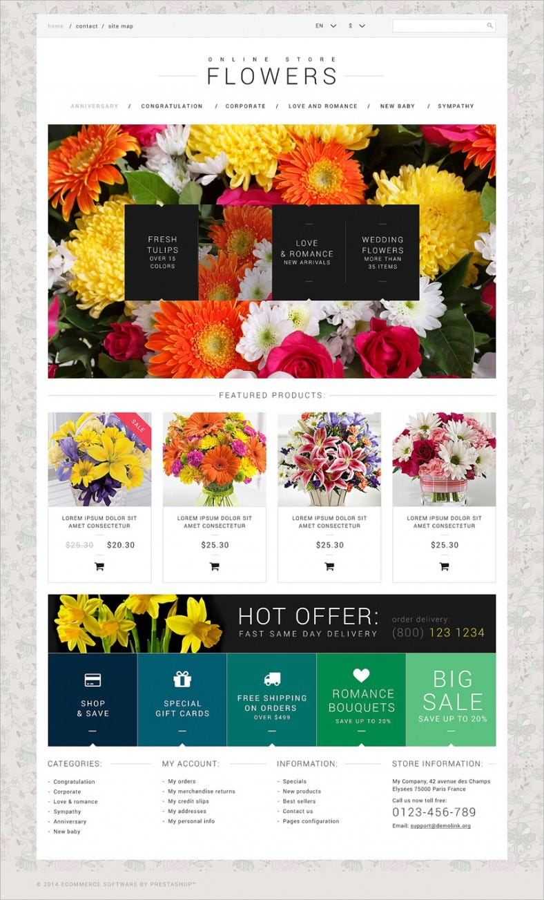 flower shop website template 788x1303