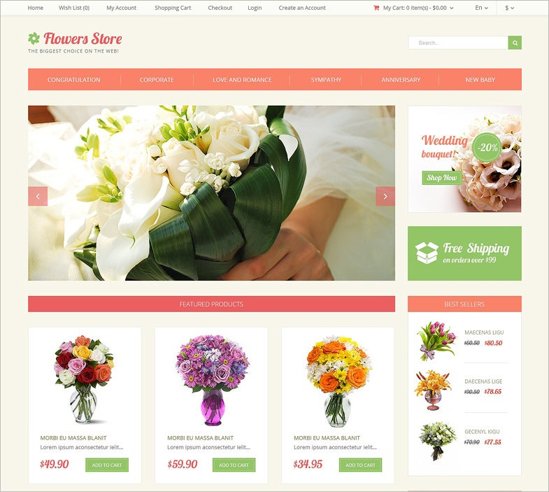 florists website templates amp themes free amp premium