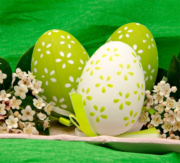 flowers easter eggs template download