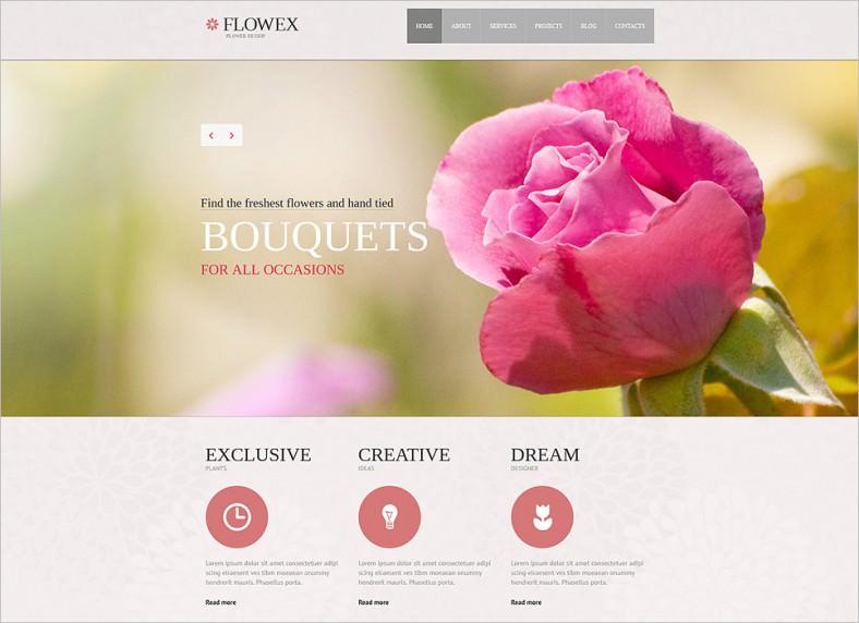 flowers responsive joomla template 788x572