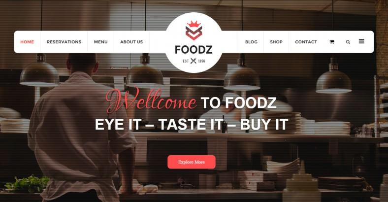 foodz restaurant joomla template 788x410