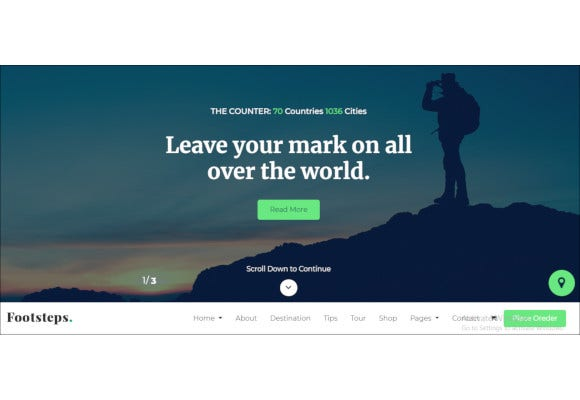 footsteps travel blog html template