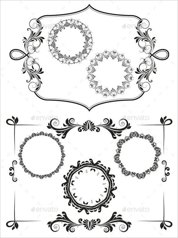 frames and borders template vector eps