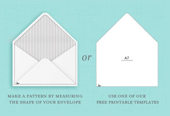 free a7 envelope liners and template