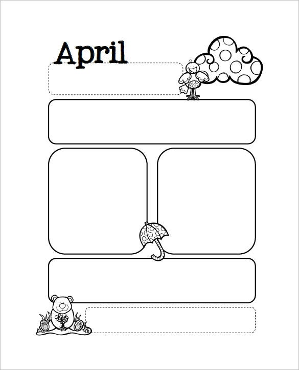free april month preschool newsletter download