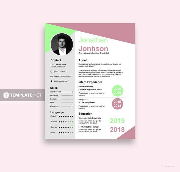 free bca fresher resume template