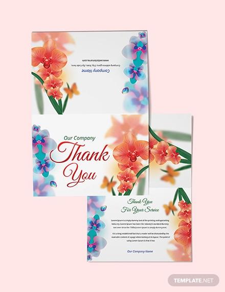 free bi fold thank you card template