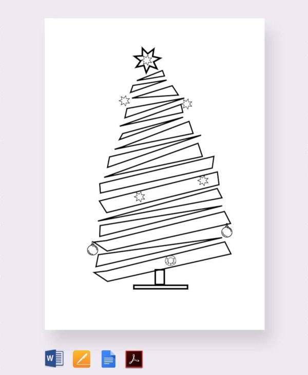 free blank christmas tree template1