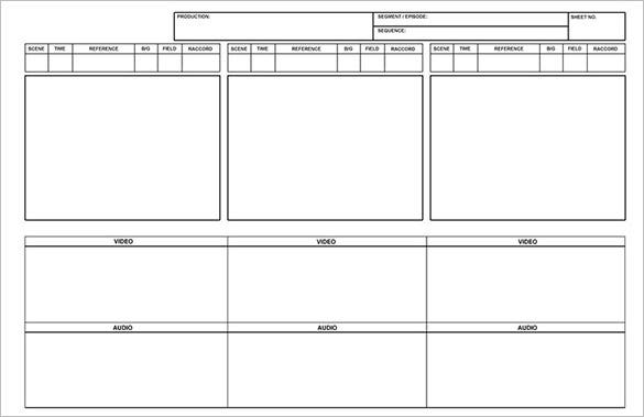 free blank printable storyboard template word format
