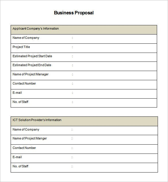 Business Proposal Template 31 Free Word PDF documents Download – Proposal Template