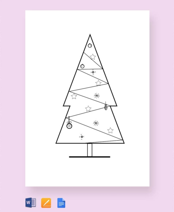 free christmas tree craft pattern template