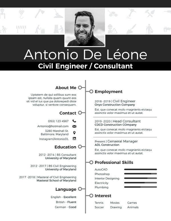free-civil-engineer-resume-template